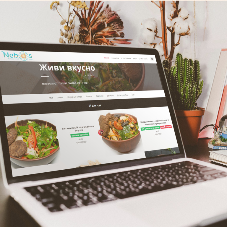 Nebos Restaurant Website Case